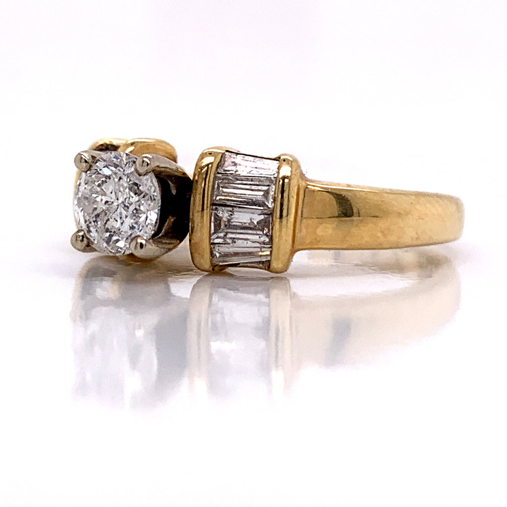 1.00 CT. Diamond Engagement Ring in 14K Gold - White Carat Diamonds