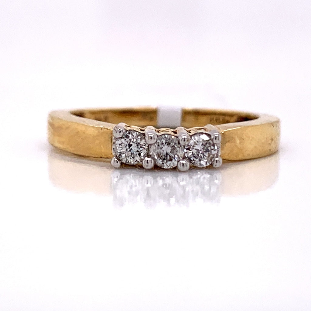 0.25 CT. Diamond Fancy Ring in 14K Gold - White Carat Diamonds