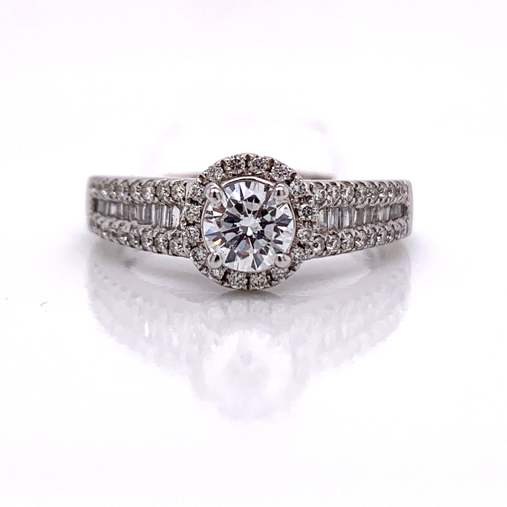 1.00 CT. Diamond Wedding Ring Set in 14K White Gold - White Carat Diamonds