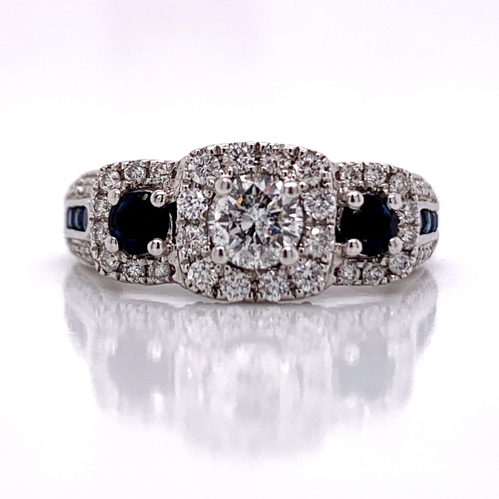 1.32 CT. Diamond Wedding Ring in 14K Gold - White Carat Diamonds