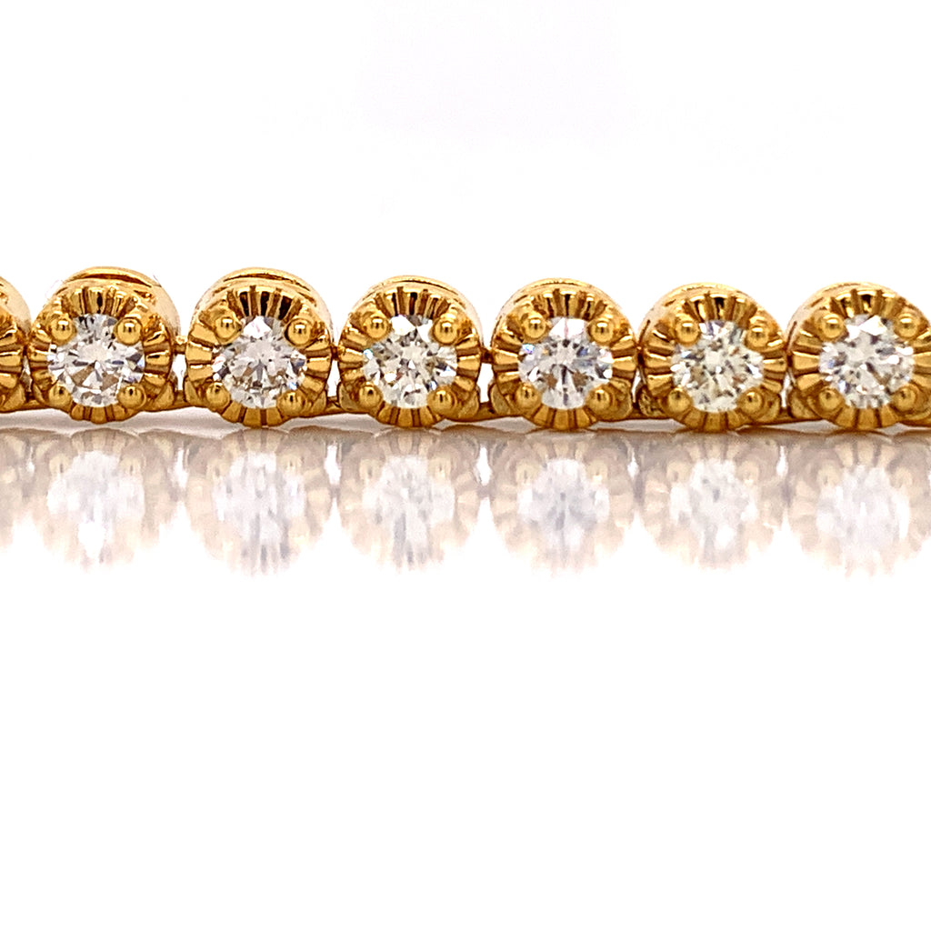17.98 CT. Diamond Fancy Tennis Chain in 10KT Gold - White Carat Diamonds