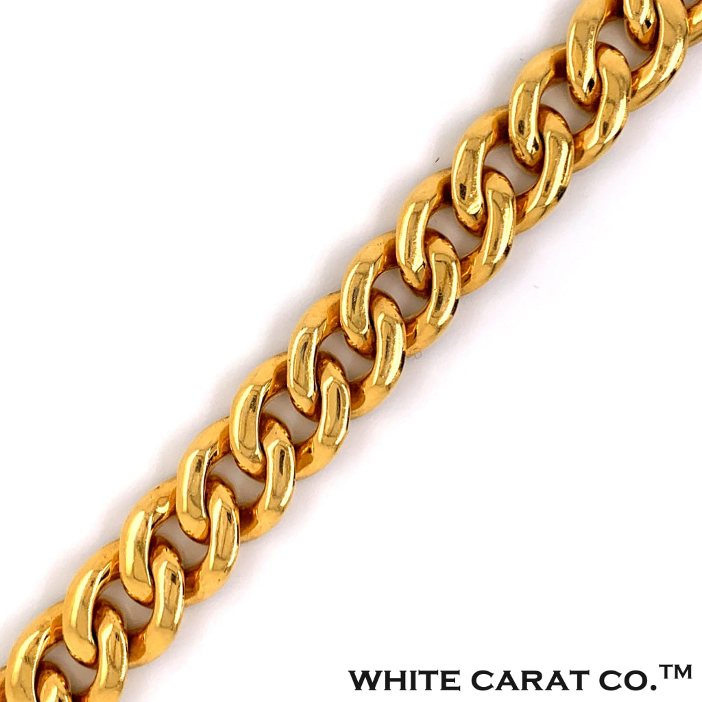 15.96 CT. Diamond Baguette Miami Cuban Chain in 14KT Gold - White Carat Diamonds