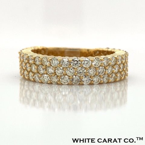 3.04 CT. Diamond Ring in 10K Gold - White Carat Diamonds