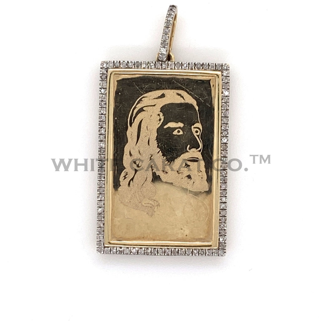 0.30 CT. Diamond Jesus Pendant in 10KT Gold - White Carat Diamonds