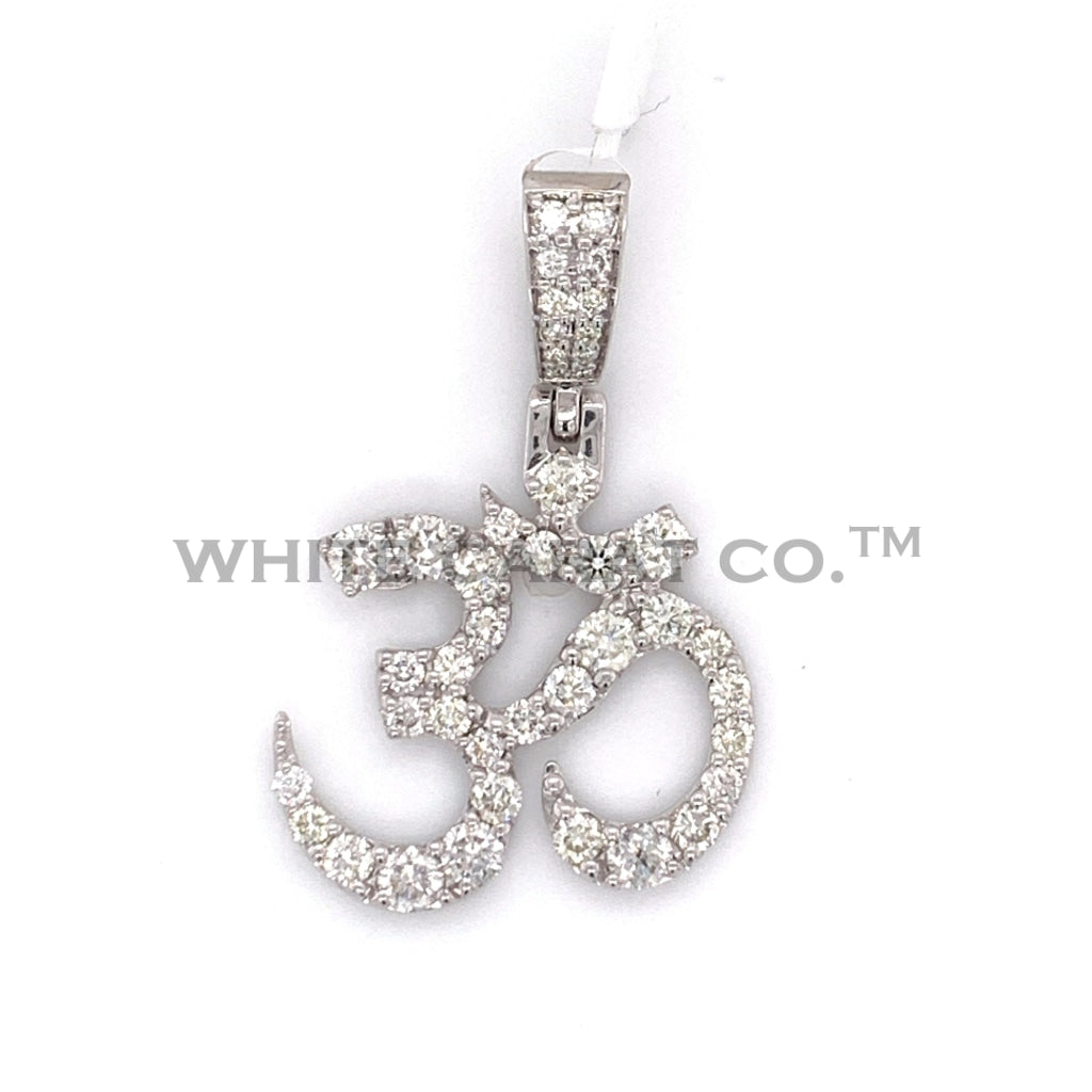 2.25 CT. Diamond OM Pendant in 10KT Gold - White Carat Diamonds
