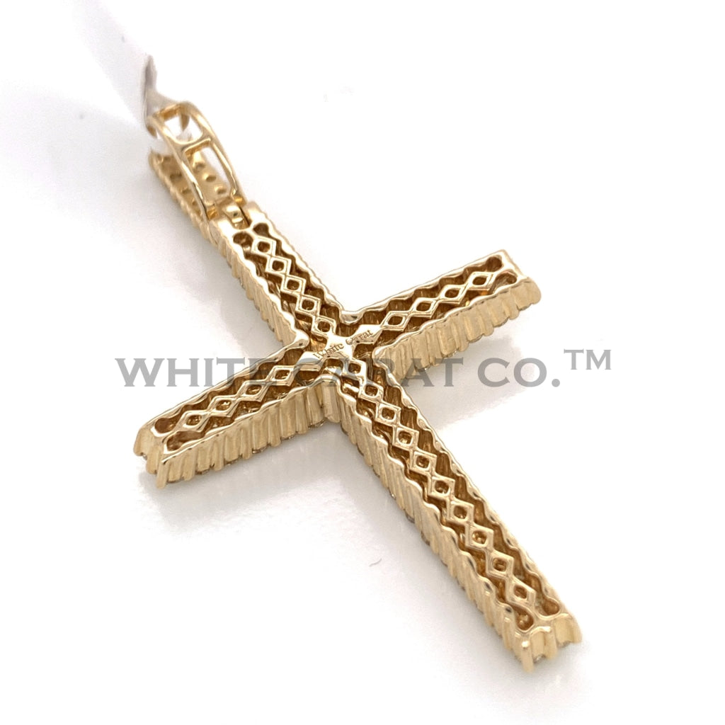2.50 CT. Diamond Cross Pendant in 10KT Gold - White Carat Diamonds
