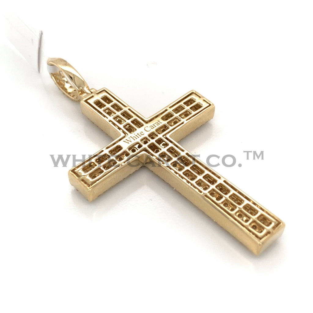 4.00 CT. Diamond Cross Pendant in 10KT Gold - White Carat Diamonds