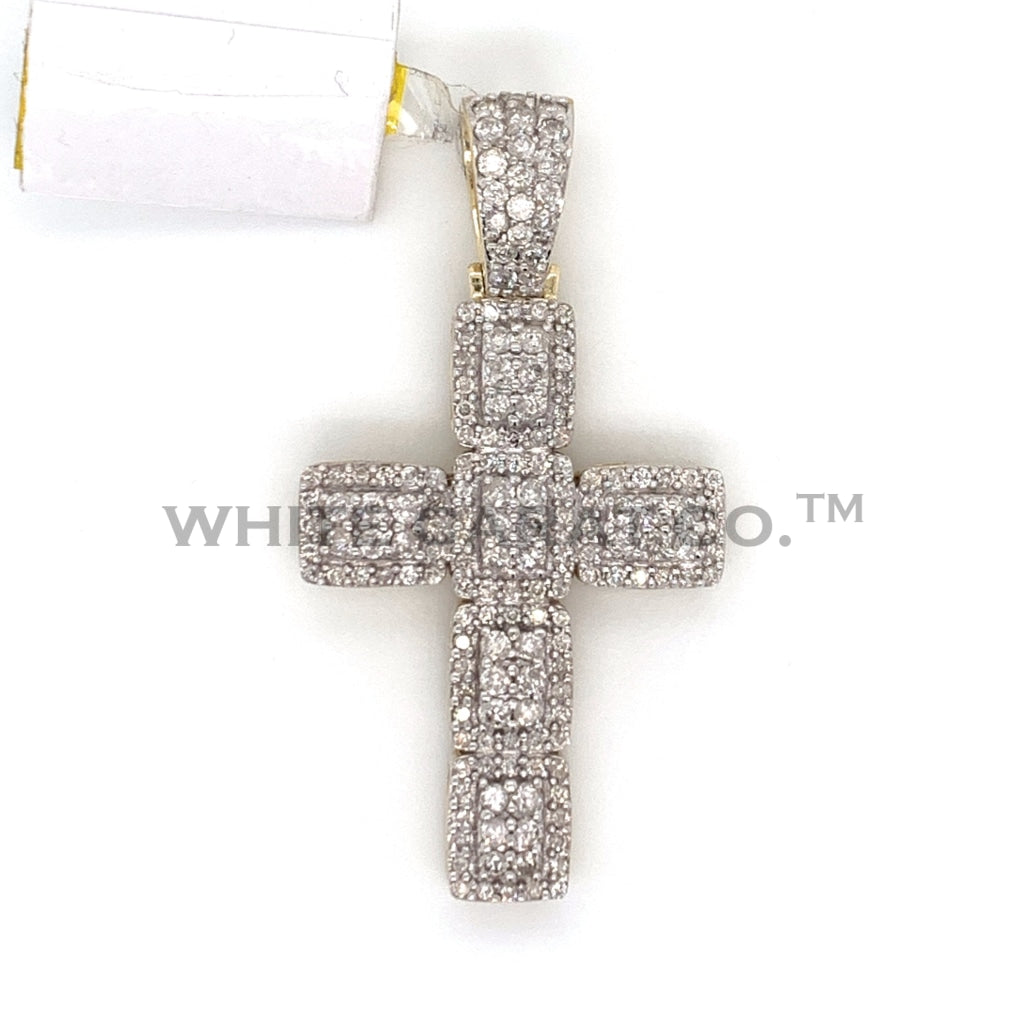 1.49 CT. Diamond Cross in 10K Gold - White Carat Diamonds