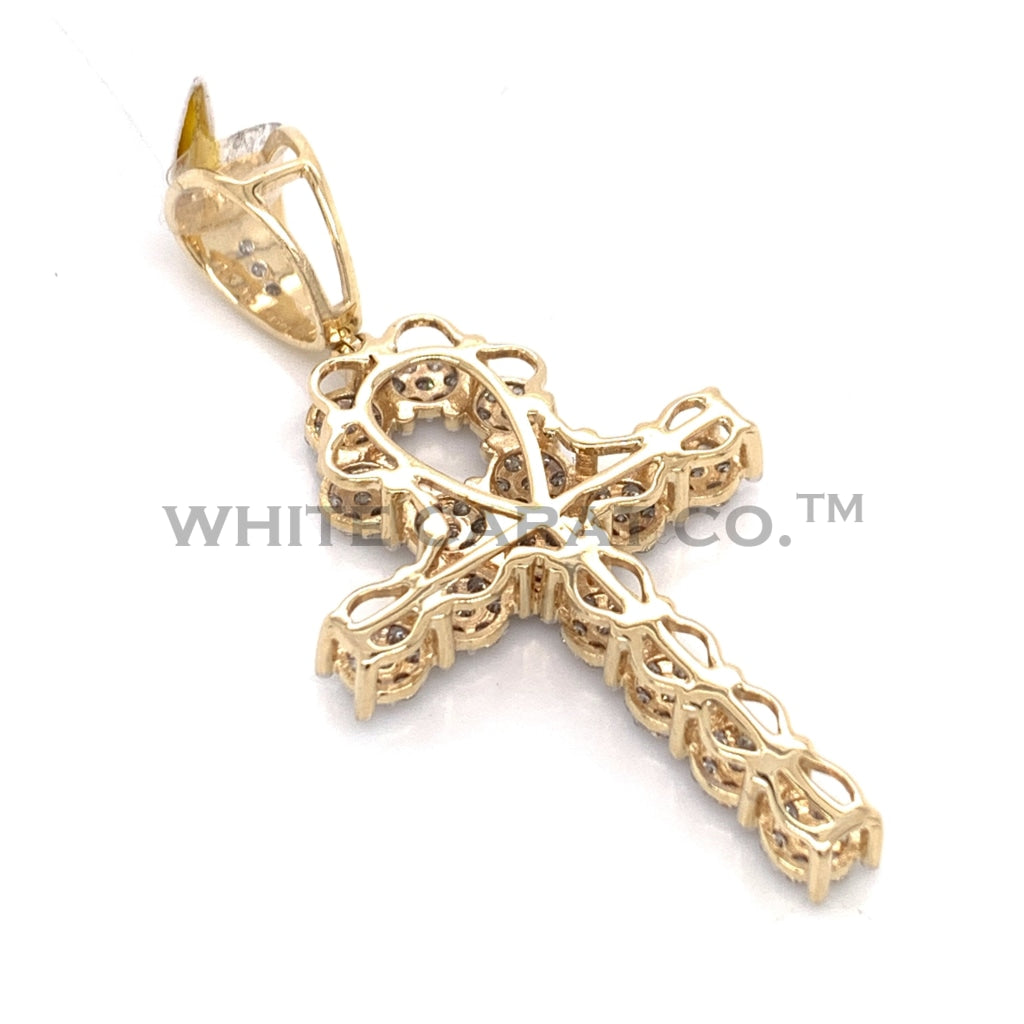 1.10 CT. Diamond Cross in 10K Gold - White Carat Diamonds