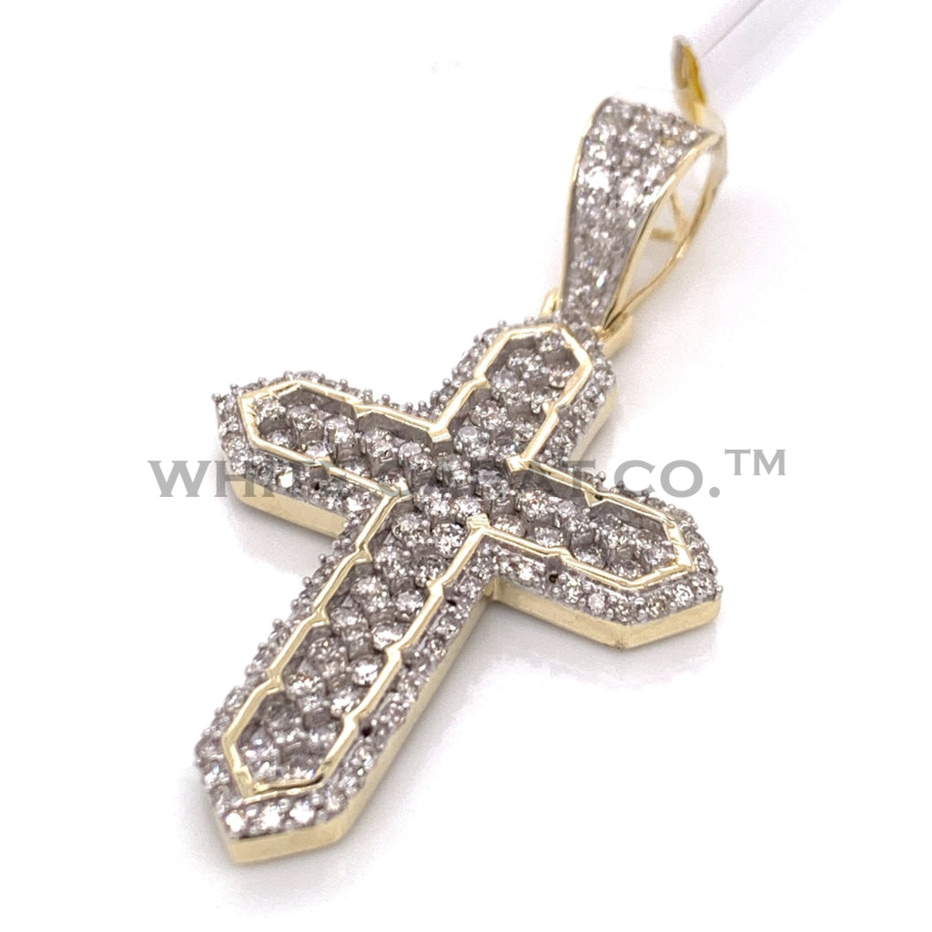 1.46 CT. Diamond Cross in 10K Gold - White Carat Diamonds