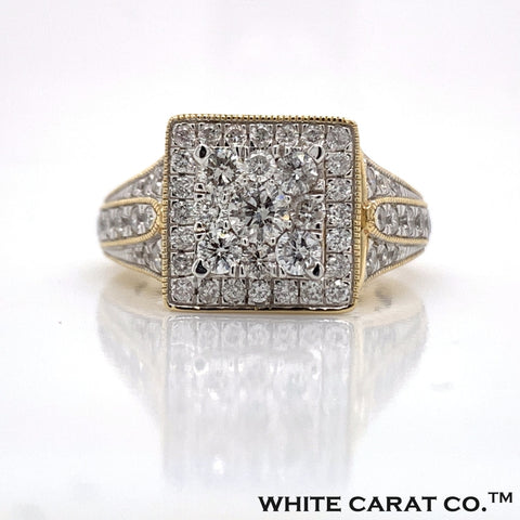 1.65 CT. Diamond Ring in 14K Gold - White Carat Diamonds