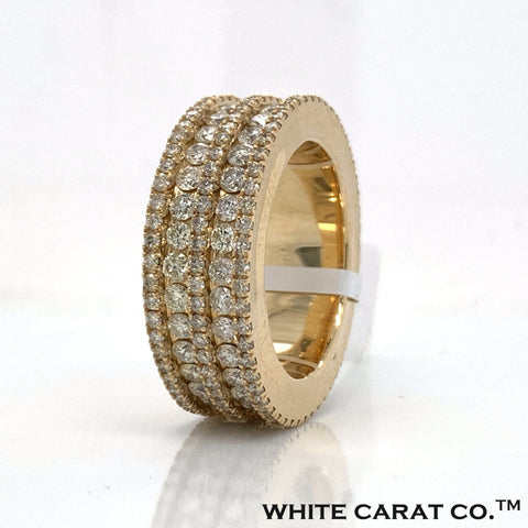 7.00 CT. Diamond Ring in 10K Gold - White Carat Diamonds