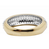 0.60 CT. Pavé Diamond Wedding Band in 10K Yellow Gold - White Carat Diamonds