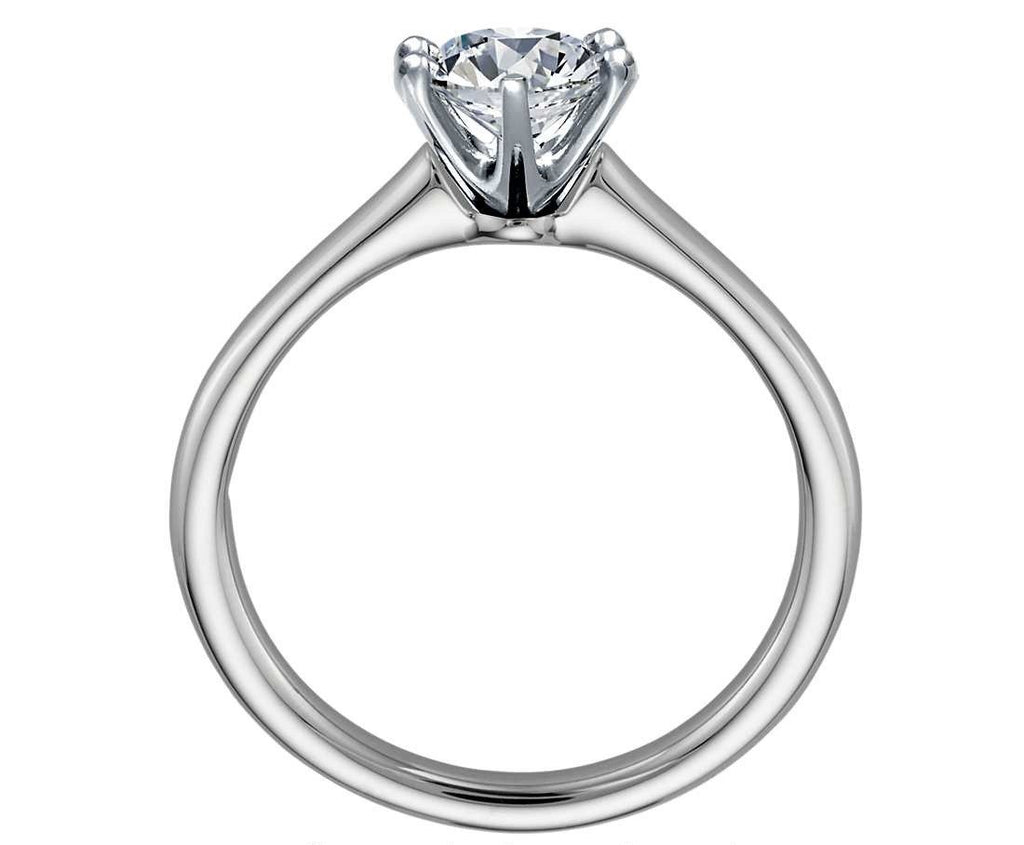 1.00 CT. Six-Claw Solitaire Diamond Ring in White Gold - White Carat Diamonds
