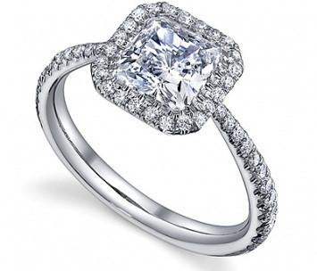 1.25 CT. Square Diamond Ring in White Gold - White Carat Diamonds