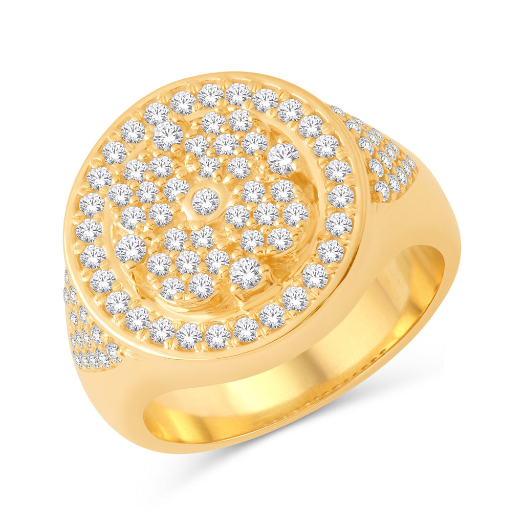 10KT-1.15CTW  MENSRING - White Carat Diamonds