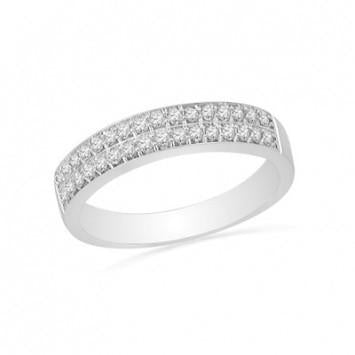 0.75 CT. Diamond Double Wedding Band in White Gold - White Carat - USA & Canada