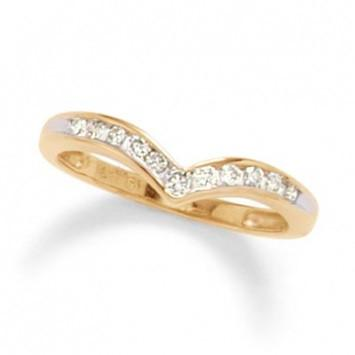 0.75 CT. Diamond Channel Contour Band in Yellow Gold - White Carat - USA & Canada