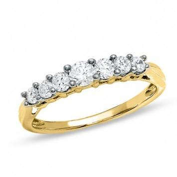 0.66 CT. Diamond Stones Band in Yellow Gold - White Carat Diamonds