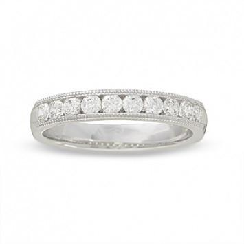 0.75 CT. Diamond Edges Wedding Band in White Gold - White Carat Diamonds