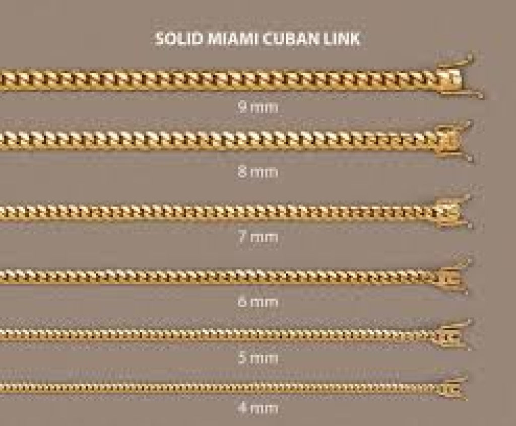 10K Gold Miami Cuban Chain (Regular)- 8mm - White Carat Diamonds
