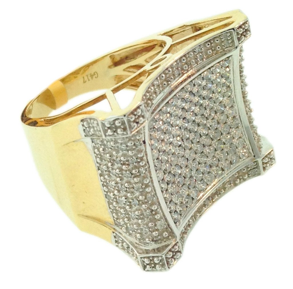 1.54 CT. Concave Diamond Ring in 10K Yellow Gold - White Carat Diamonds