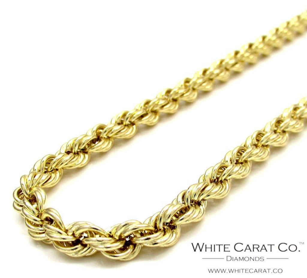 10K Gold Rope Chain - 10MM Special Price - White Carat Diamonds