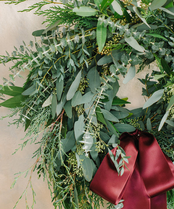 Holiday Greenery Wreath