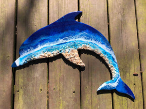 Dolphin Shaped Resin 3d Painting