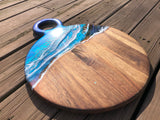 Hardwood Coastal Resin Serving Board