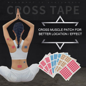 10 Pcs/Bag Sport Esporte Crossfit Tape Muscle Tape Elastic Breathable Spiral Cross Kinesiology Tape Physical Therapy Cross Tapes