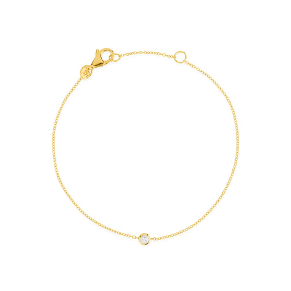 ONE DIAMOND 18K BRACELET