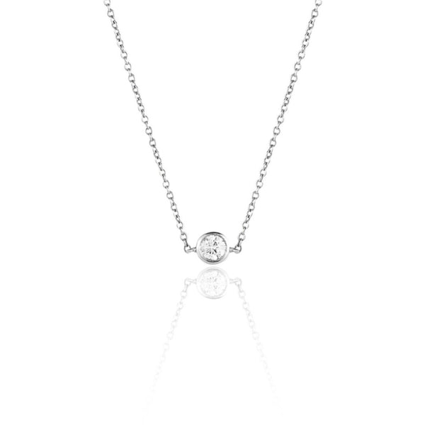 ONE DIAMOND 18K NECKLACE