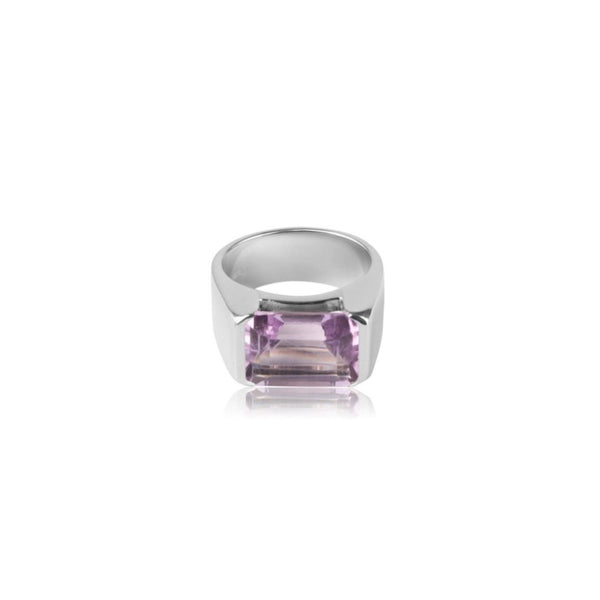 EMERALD-CUT RING AMETHYST