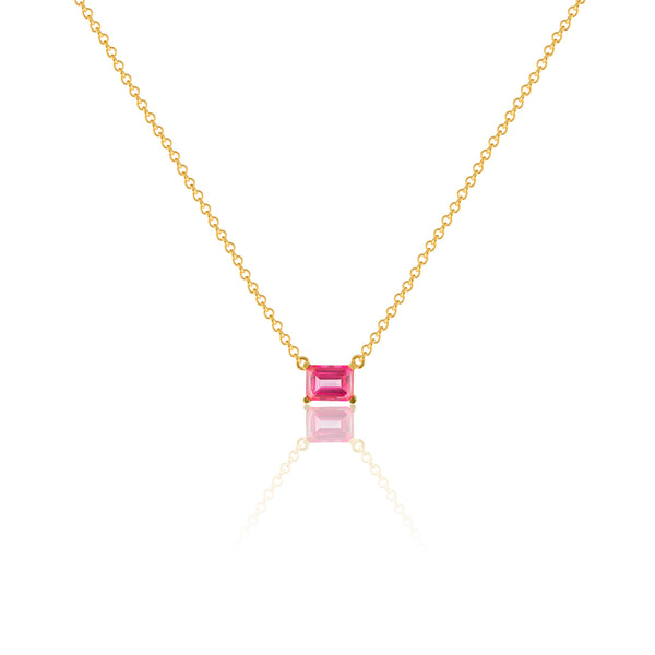 EMERALD-CUT NECKLACE