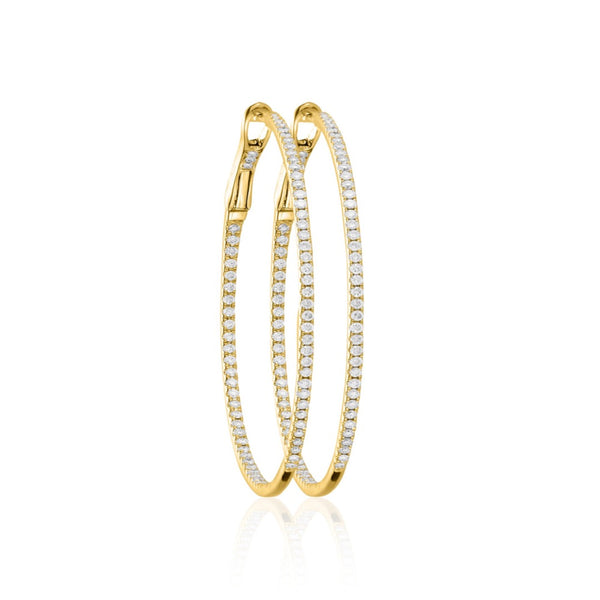 DIAMOND HOOPS 18K GOLD L