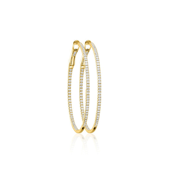DIAMOND HOOPS 18K GOLD M