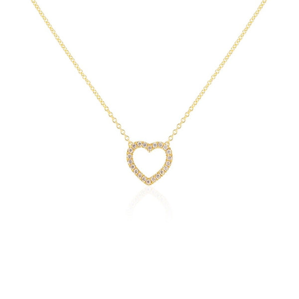 DIAMOND HEART MINI NECKLACE
