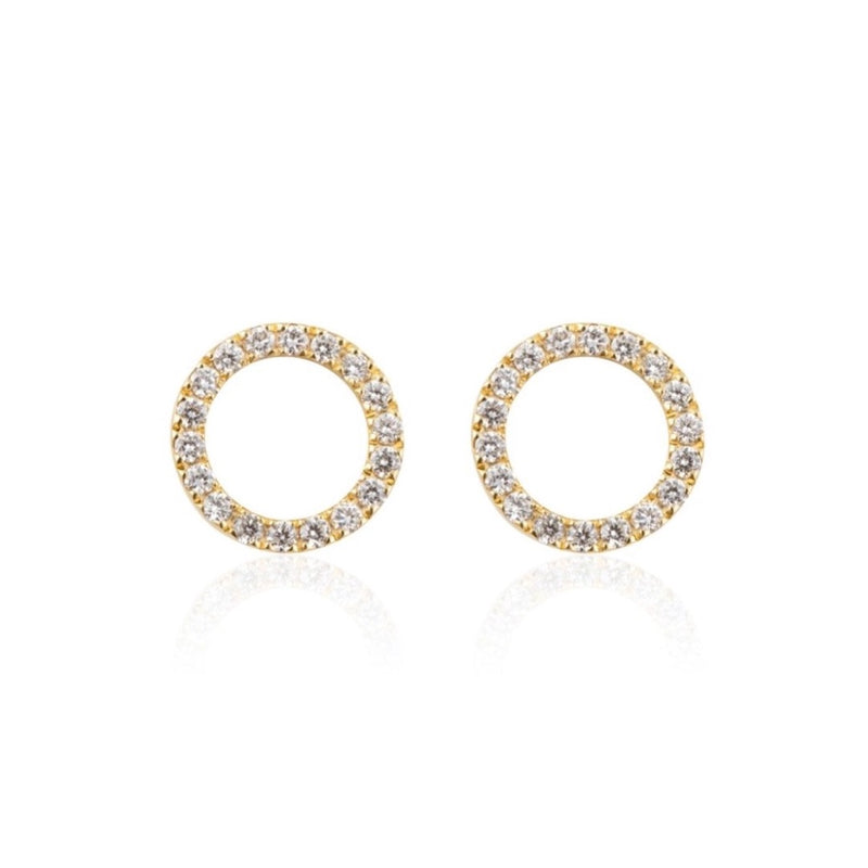 CIRCLE MINI DIAMOND EARRINGS