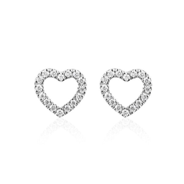 DIAMOND HEART MINI EARRING
