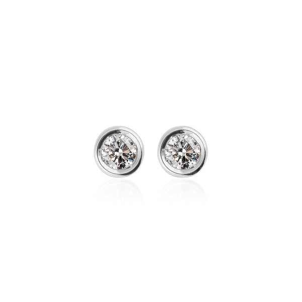 ONE DIAMOND STUDS L