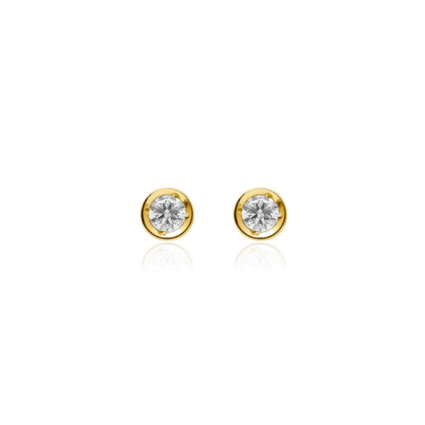 ONE DIAMOND STUDS