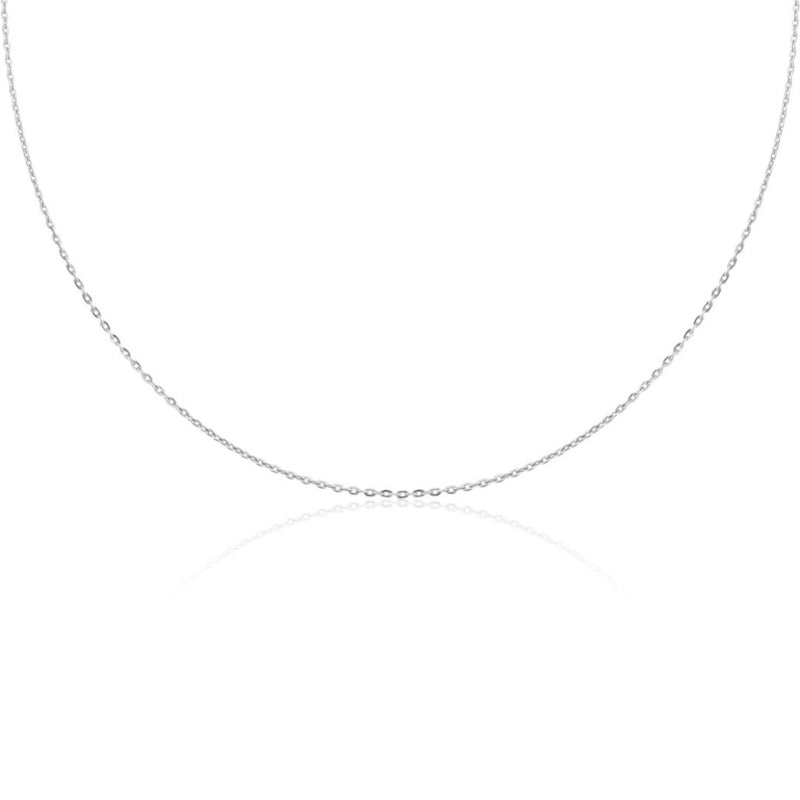 CHAIN NECKLACE 18K WHITE GOLD