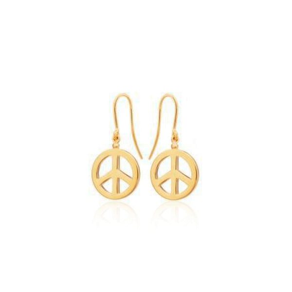 PEACE HOOK EARRINGS