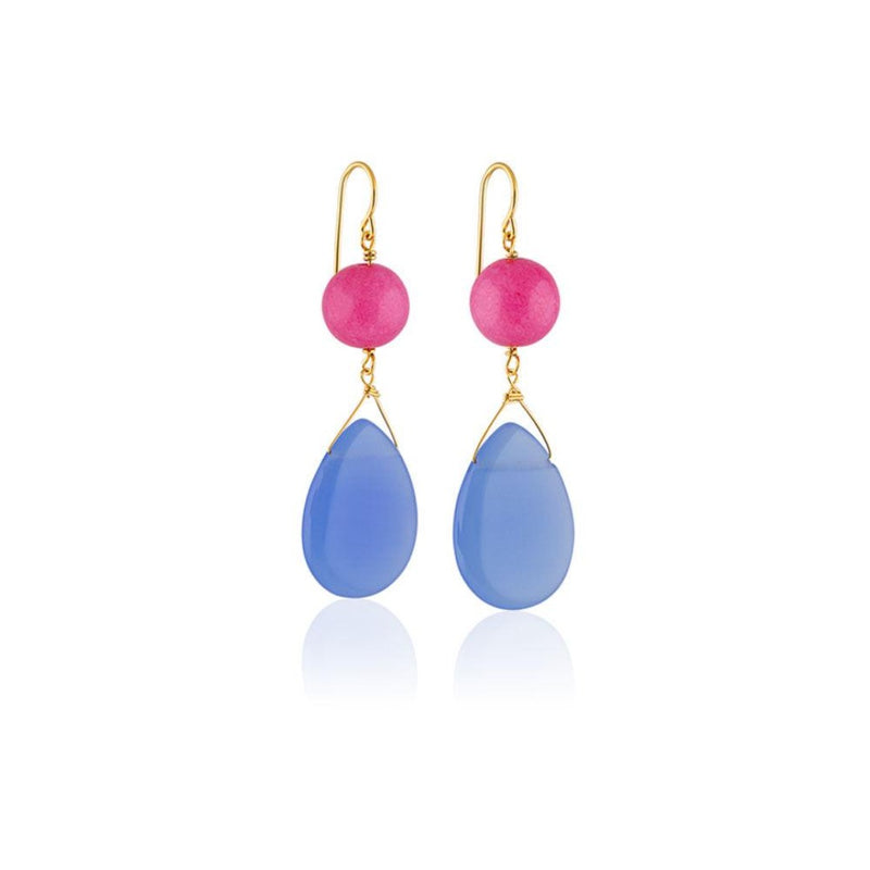 CANDY DOUBLE STONE EARRING