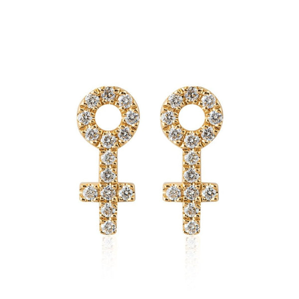 WOMAN DIAMOND STUDS 18K GOLD