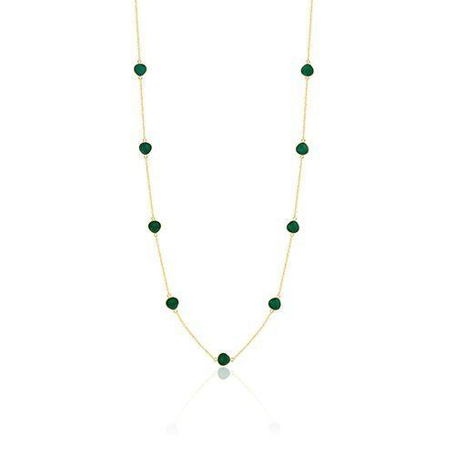 Gold plated silver green quartz