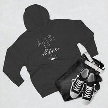 Load image into Gallery viewer, Outfit set with black jeans, black shoes, and grey hoodie with a quote I am meant shine
