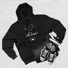 Load image into Gallery viewer, Outfit set with black jeans, black shoes, and black hoodie with a quote I am meant shine