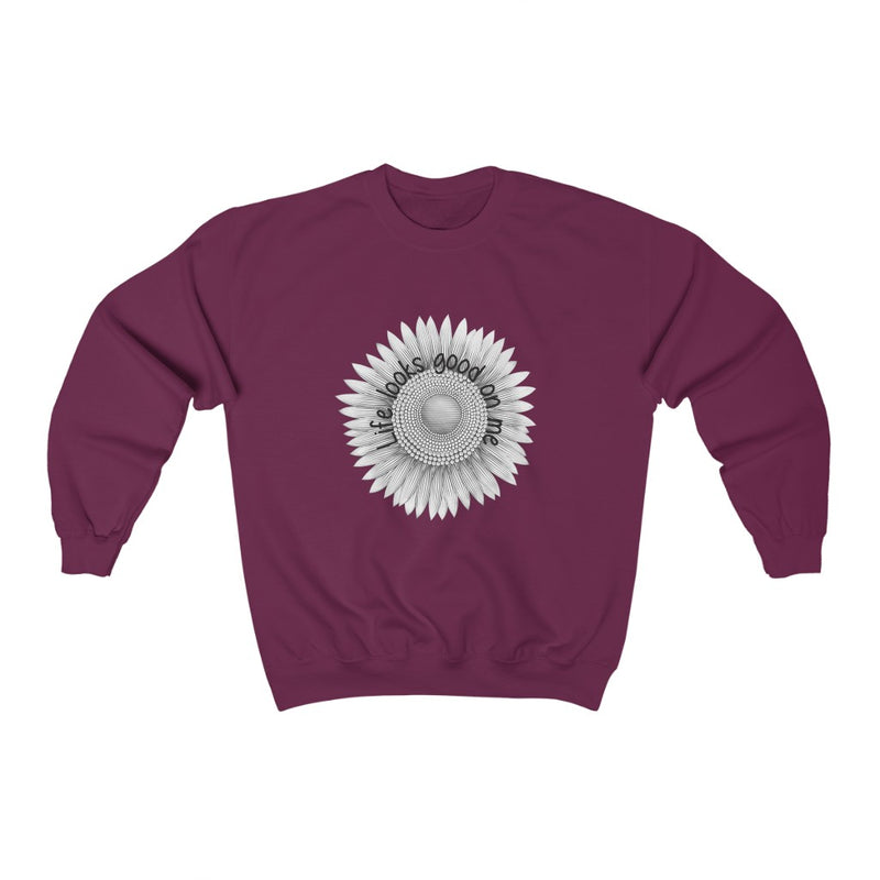 Crewneck Sweatshirt for Women -Sunflower - Life Looks Good on Me / 6 colors